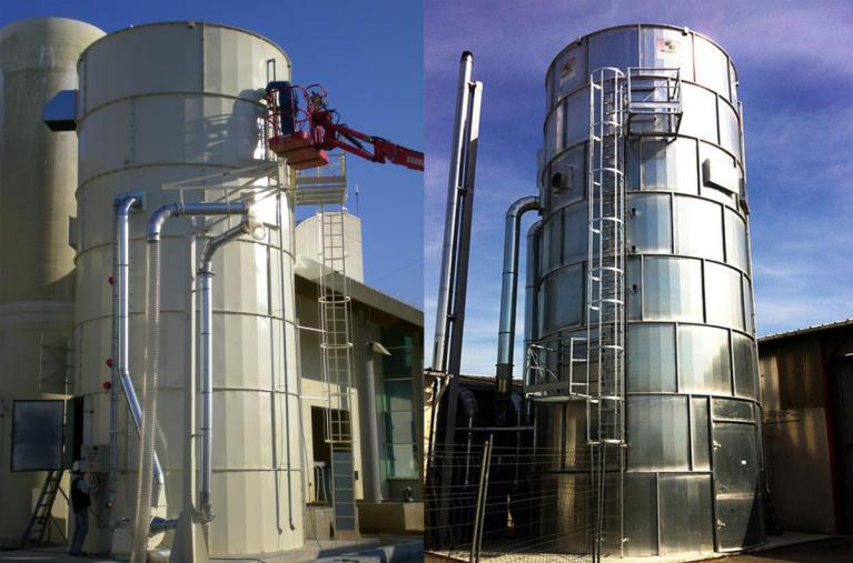 silos et silos filtres